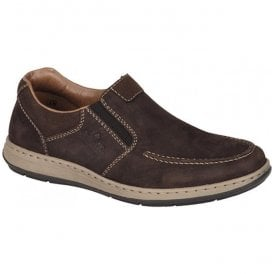 Arkansas Brown Leather Slip On Casual Trainers 17361-25