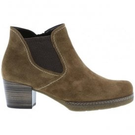 Womens Lilia Nut Suede Heeled Ankle Boots 76.661.34
