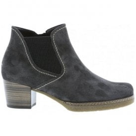 Womens Lilia Dark Grey Suede Heeled Ankle Boots 76.661.39
