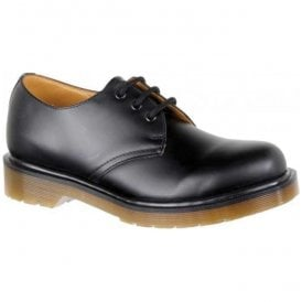 Unisex 1461 PW Smooth Black Leather Shoes 11839002