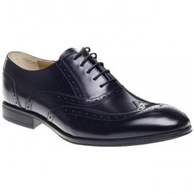 Mens Finchley Black Brogue Lace Up Shoes