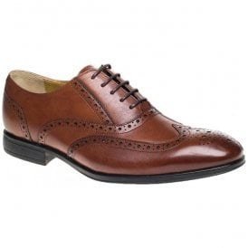 Mens Finchley Tan Brogue Lace Up Shoes