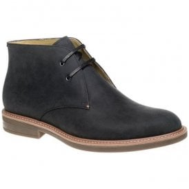 Mens Gloucester Navy Crazy Horse Leather Chukka Boots