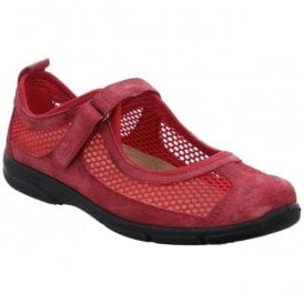 Womens Traveler 02 Red Low Top Shoes