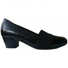 Womens Sovereign Black Patent Slip On Court Shoes 72.052.87