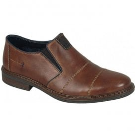 Cavallino Brown Leather Slip On Casual Shoes 17661-25