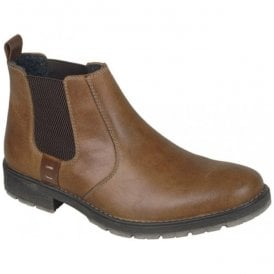 Mens Russia Brown Leather Chelsea Boots 33353-25