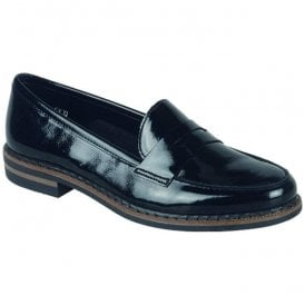 Luxor Black Patent Leather Loafers 50662-02
