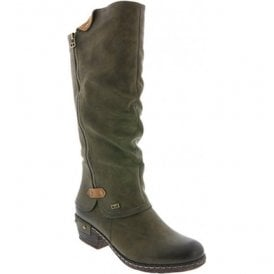 Newport Olive High Leg Boot 93655-54