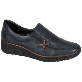 Lugano Pacific Blue Slip On Casual Shoes 53783-14