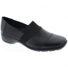 Fino Black Slip On Casual Shoes 58355-00