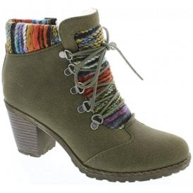Brazzavill D-Ring Olive Ankle Boots 95323-54