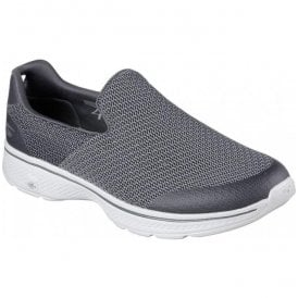 Mens Go Walk 4 Expert Charcoal Walking Shoes 54155