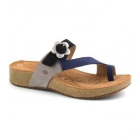 Womens Tonga 23 Blue-Multi Strap Over Sandals 78515 724 502