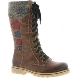 Eagle Brandy Waterproof 12 Eyelet Lace Up Calf Boots Z1443-24