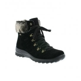 Samtcalf Black D-Ring Waterproof Ankle Boots Z7130-00
