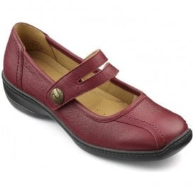 Womens Karen Extra Wide Ruby Leather Mary Jane Shoes