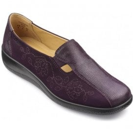 Womens Calypso Extra Wide Plum Multi Nubuck/Leather Slip On Shoes