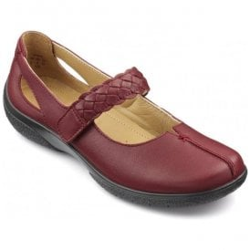 Womens Shake Extra Wide Ruby Leather Strap Over Shoes