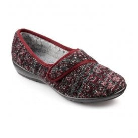 Womens Thyme Burgundy Multi Strap Over Slippers