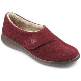 Womens Wrap Ruby Suede/Textile Velcro Slippers