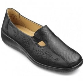 Womens Calypso Extra Wide Black Multi Leather Slip On Shoes
