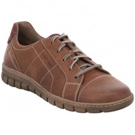 Womens Steffi 41 Chestnut Combi Lace Up Trainers 93141 869 351