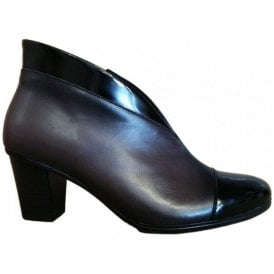 Womens Enfield Black/Tin Leather Heeled Ankle Boots 75.616.99