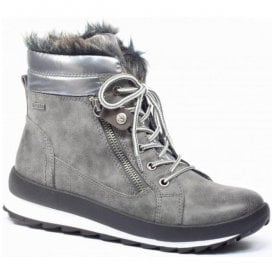 Womens Margit Grey Combi Waterproof Ankle Boots 9-26205-29 203