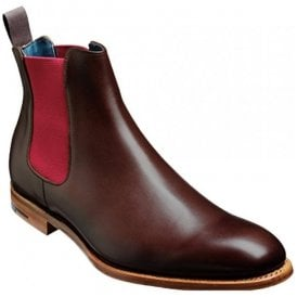 Mens Hopper Walnut Calf/Burgundy Elastic Chelsea Boots