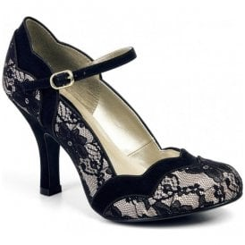 Womens Imogen Lace Mary Jane Court Shoes 09121