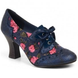 Womens Daisy Blue Lace Up Court Shoes 09128