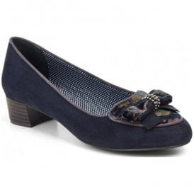 Womens Victoria Navy Slip On Court Shoes 09137