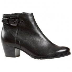 Womens Porter Black Leather Ankle Boots 2569120