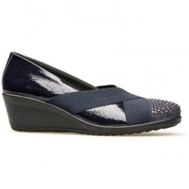 Womens Charity Navy Patent Leather Shoes 2379420