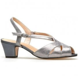 Womens Libby 2 Mercury Metallic/Anthracite Sling-Back Sandals 0293660