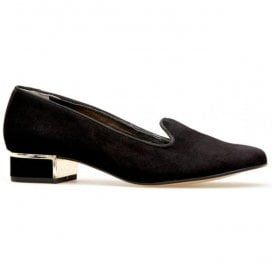 Womens Belsize Black Suede Slip-On Shoes 2760130