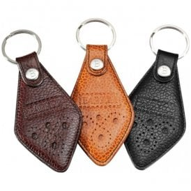 Grain Leather Key Ring