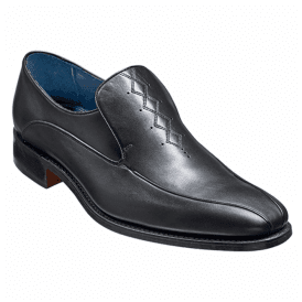 Mens Farrell Black Calf Leather Slip On Shoes