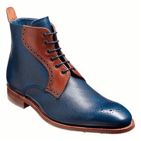 Mens Jude Navy Grain/Rosewood Calf Brogue Boots