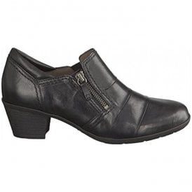 Womens Sherbert Black Heeled Trouser Shoes 94.491.57