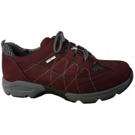 Womens Hanefa Burgundy Waterproof Walking Shoes 368951 702 053