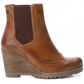 Womens Botin Camel Leather Ankle Boots 65881