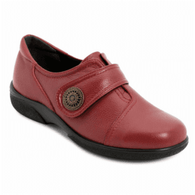 Womens Danielle Russett Red Leather Velcro Shoes 79343R 4E
