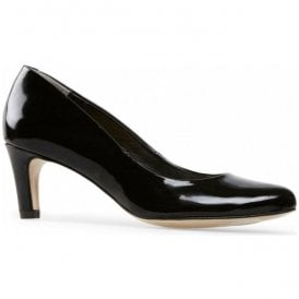 Womens Lowe Black Patent Court Shoes 2611110