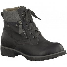 Womens Black Lace Up Ankle Boots 8-8-26212-29 001