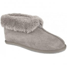 Womens Camilla Graphite Warm Lined Bootie Slippers