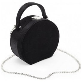 Womens Oracle Black Round Solid Case Handbag