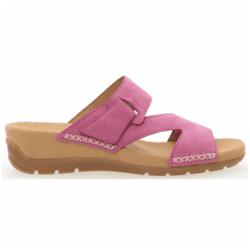 Womens Kirby Pink Leather Strap Over Mules 83.730.10