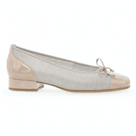 Womens Emporium Beige Pump Shoes With Bow 86.102.12